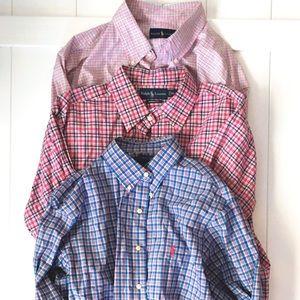 3 Ralph Lauren Men's Button Down Shirts XL